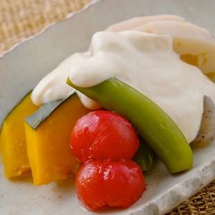 野菜の豆腐ソース
