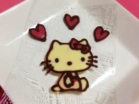 キティちゃんの手作りチョコプレート