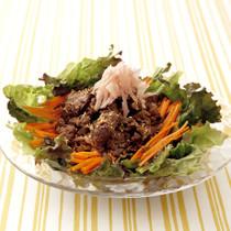 甘酢風味の牛焼き肉サラダ