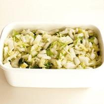 塩もみ白菜