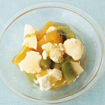 チーズとフルーツのハニーサラダ