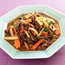 牛肉と大根の韓国風炒め