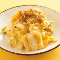 卵と白菜漬けの炒めもの