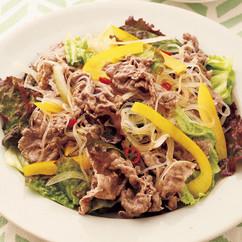 牛しゃぶしゃぶのエスニック風サラダ