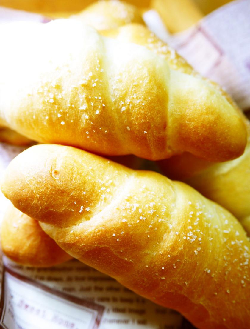 朝食&ランチに♪塩パン(HB&簡単成形)
