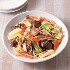 焼き鳥レバ野菜炒め
