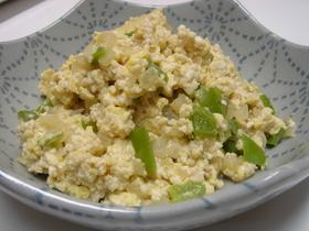 大葉にんにく醤油で簡単☆炒り豆腐♪
