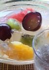 サイダーでフルーツ寒天~!!