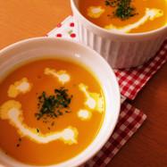 夏は冷製で!黄金比率♡濃厚かぼちゃスープ