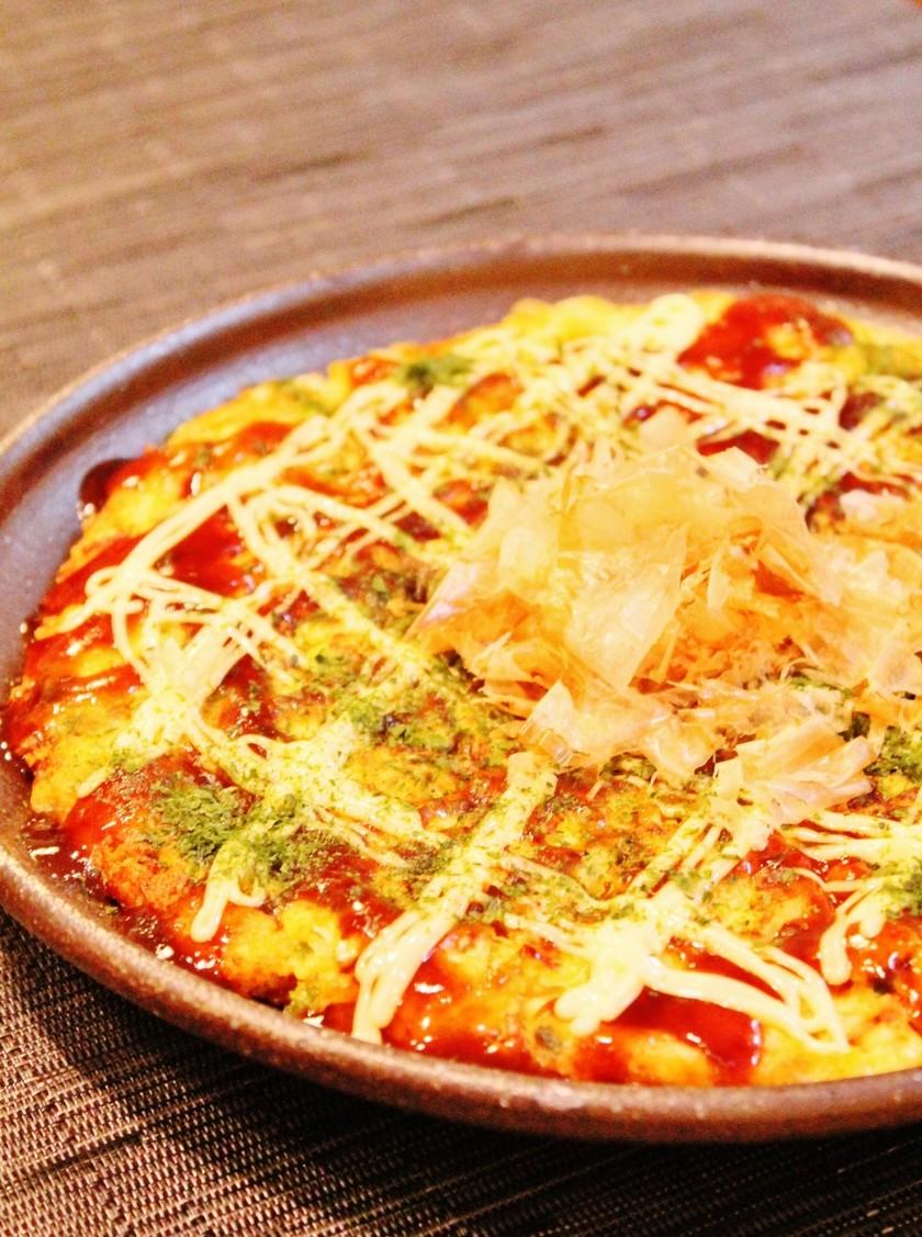 ふわふわ✿豆腐deヘルシーお好み焼き風✿