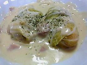 白菜ロール豆乳ホワイトソース