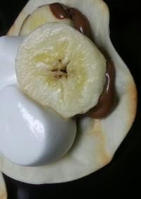 簡単!餃子の皮アレンジ チョコバナナ風♪