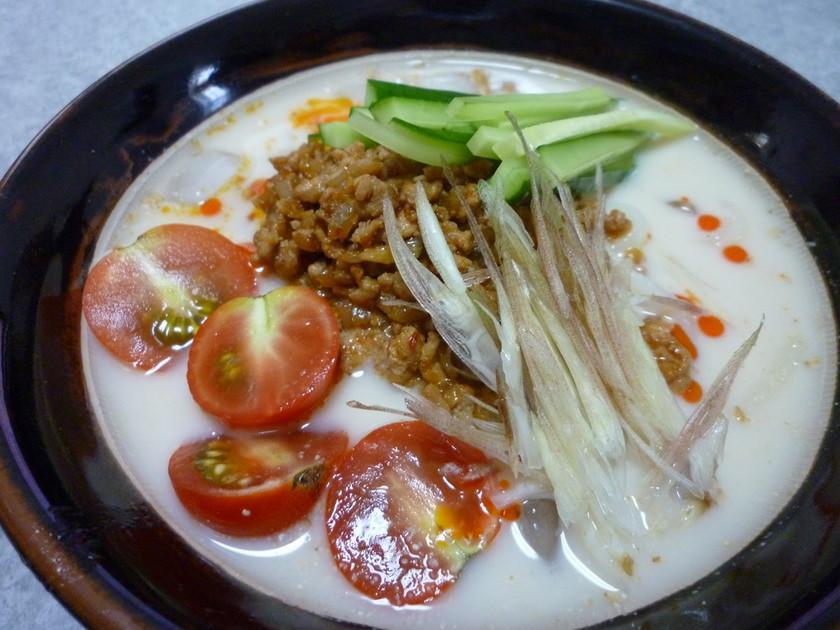 すり鉢で作る☆冷やし担担麺