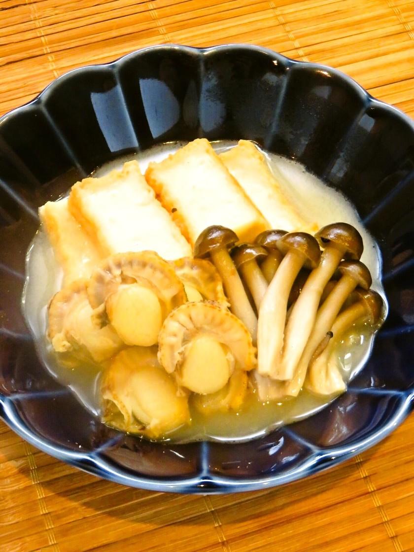 ☺厚揚げとベビーほたての簡単中華風煮物☺