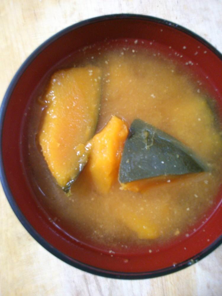 簡単 早い かぼちゃのお味噌汁