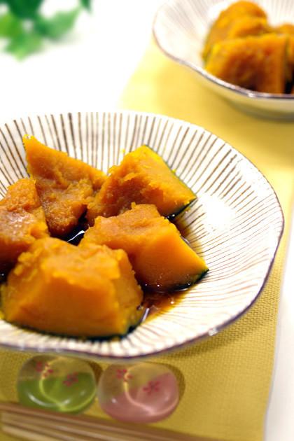 麺つゆで簡単レンジで本気のかぼちゃの煮物