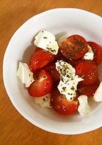 ミニトマトとクリームチーズの簡単サラダ