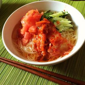 ぶっかけ韓国冷麺風そうめん
