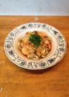 海老とマッシュルームのニンニク炒め
