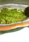 簡単 青紫蘇の豆板醤入りピリ辛漬け保存