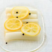長ねぎのはちみつレモン煮