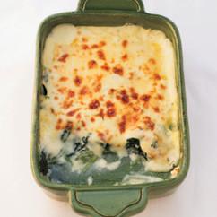 ほうれん草のチーズグラタン