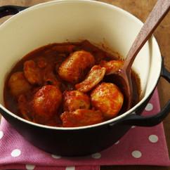 新じゃがいもと豚バラ肉のトマト煮