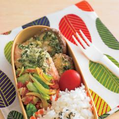 鮭のパセリ焼き+キャベツソテー弁当