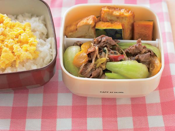 牛肉のチャプチェ+かぼちゃ煮弁当