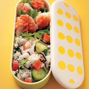 白身魚のソテー+混ぜずし弁当