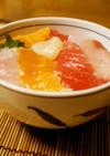 簡単☆作り置き寿司酢で海鮮丼