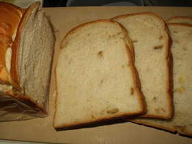 Bシュガーのクルミパン(HBで1次発酵)
