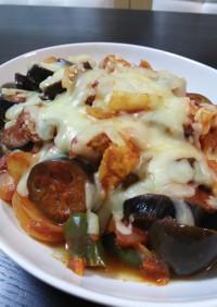 鶏胸肉と夏野菜のトマト煮
