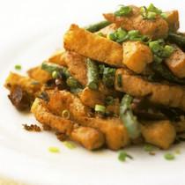 豆腐の強火香り炒め