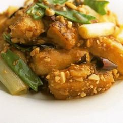 豆腐のピリ辛ソース風味