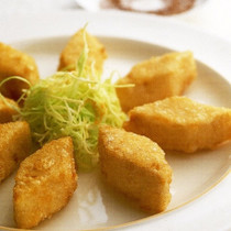 豆腐の揚げ物 塩山椒添え