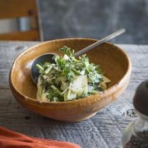 スライスボイルポテトとハーブのサラダ
