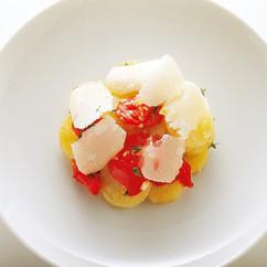 ジャガイモトマトパルメザンチーズのサラダ
