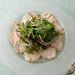 柔らかい胸肉のカルパッチョ仕立て