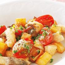 ジャガイモと白身魚のソテー