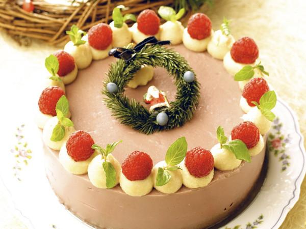 木いちごのクリスマスケーキ
