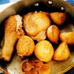 鶏肉と新ジャガイモのロースト