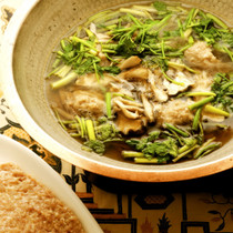【ひき肉】鶏だんご鍋