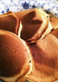 朝食に豆乳バナナ♡ぷちホットケーキ