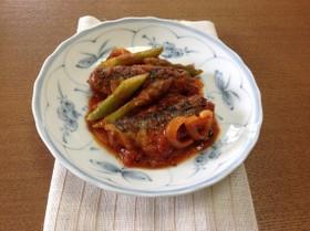 介護食【味噌煮缶で魚の和風トマト煮】