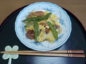 介護食【焼き鳥缶で簡単!親子煮】