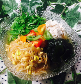 さっぱり美味しい梅春雨冷麺(*‾0‾*)