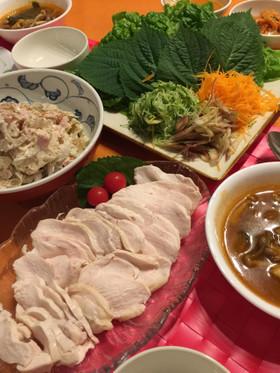 鶏ポッサム☆ゆで鶏胸肉でダイエットにも