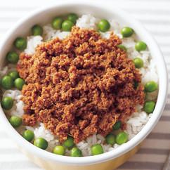 すりおろし野菜のキーマカレー弁当