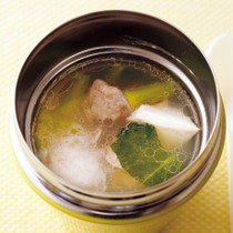 小松菜のとろろスープ
